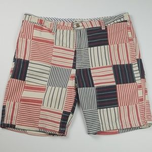 Tailor Vintage Red, White & Blue Short's Size 40